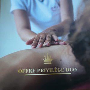 offre privilège massage en septembre